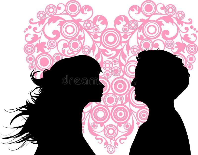 Het houden van van vrouwen en mannen vector illustratie