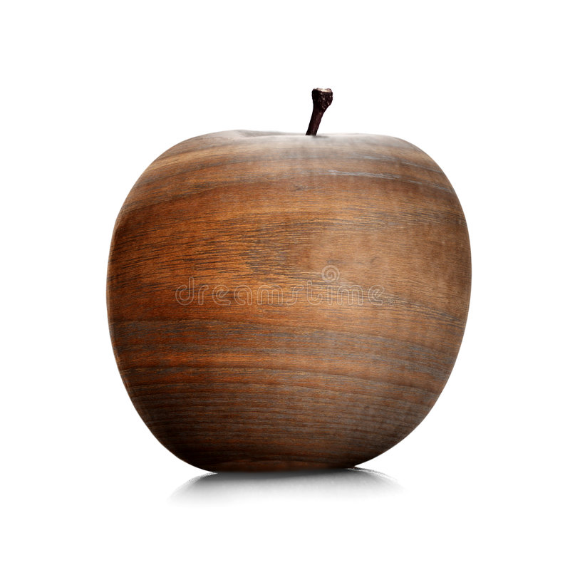 Het hout van de appel royalty-vrije stock afbeelding
