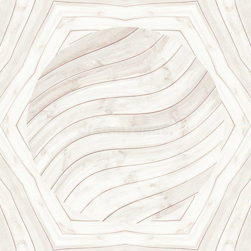 Het hout van de de textuurvloer van het parketpatroon naadloze bevloering vector illustratie
