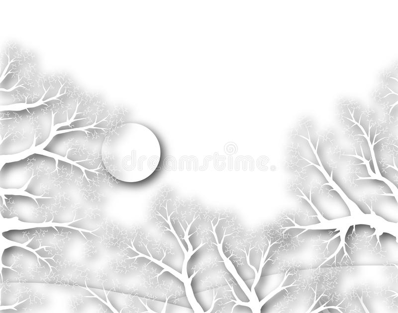 Het hout van de winter royalty-vrije illustratie