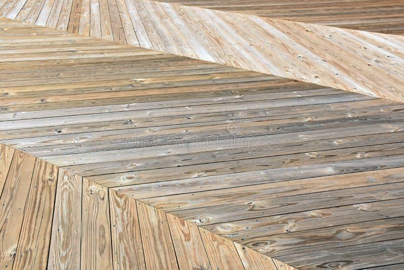 Het houten Ontwerp van de Visgraatpromenade royalty-vrije stock fotografie