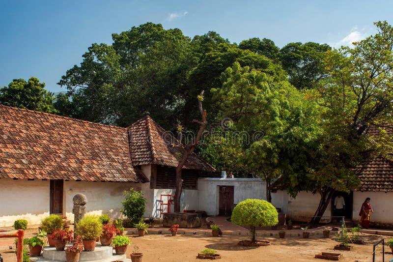 Het houten paleis complexe Nagercoil van erfenis architectuur-Padmanabhapuram royalty-vrije stock fotografie