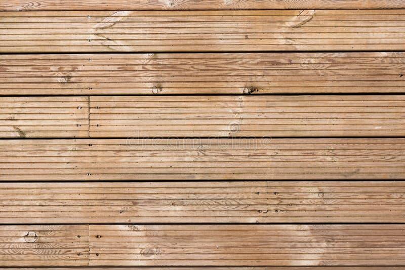 Het houten Patroon van de Textuur Decking royalty-vrije stock afbeelding