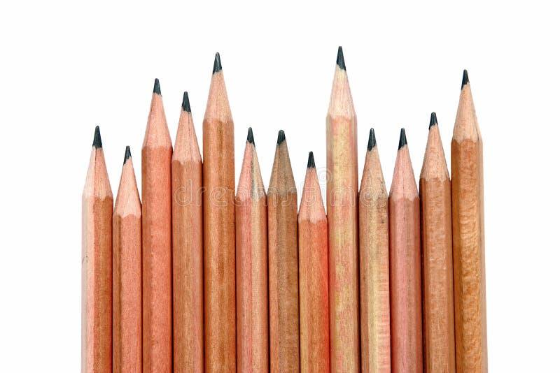 Het houten potlood van de zigzag royalty-vrije stock afbeeldingen
