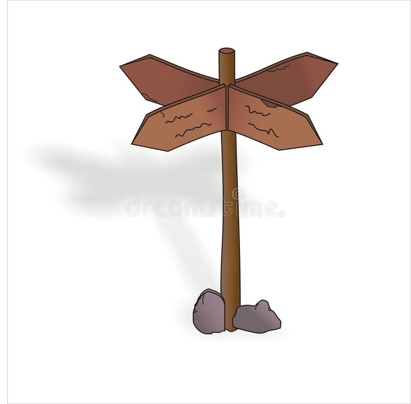 Het houten teken stock foto