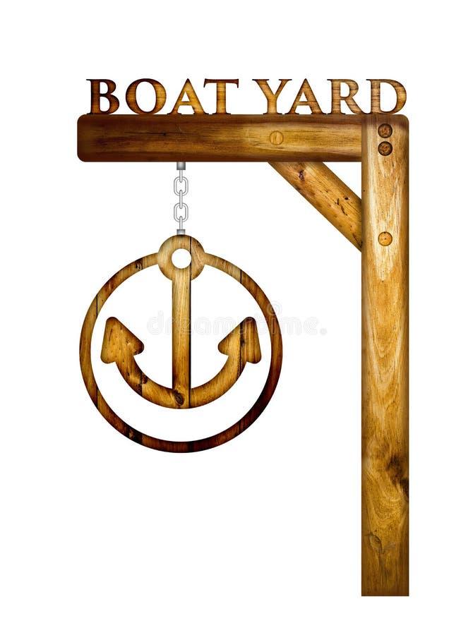 Het houten teken van de bootwerf royalty-vrije stock foto
