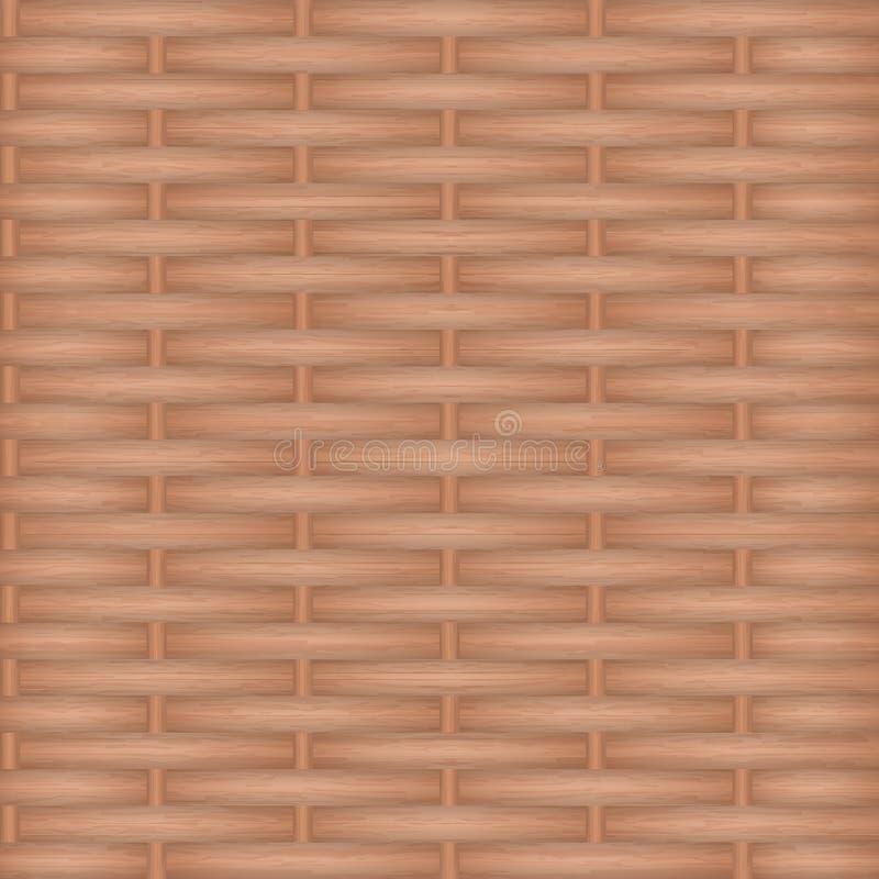 Het houten textuur weven Het kan voor prestaties van het ontwerpwerk noodzakelijk zijn royalty-vrije illustratie
