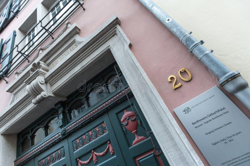 Het huis Bonn Duitsland van de Beethovengeboorte royalty-vrije stock fotografie