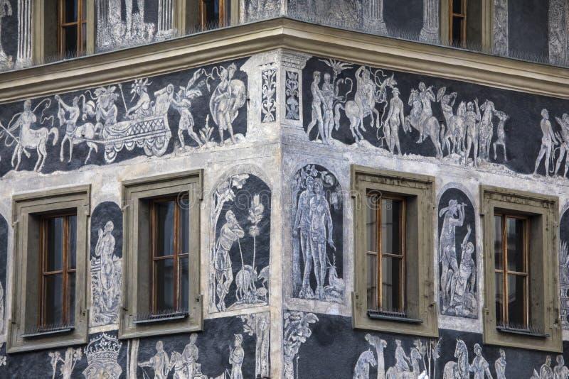 Het Huis de Minuut in Praag stock fotografie