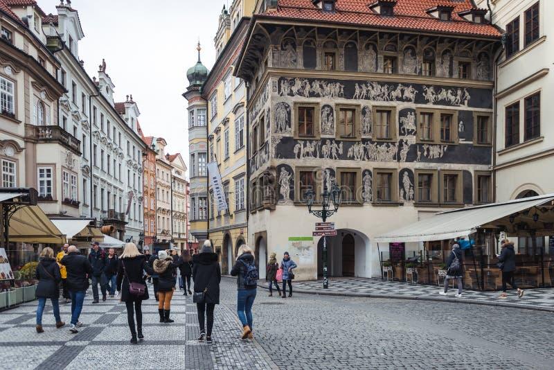 Het Huis de Minuut in Praag, Tsjechische Republiek royalty-vrije stock fotografie