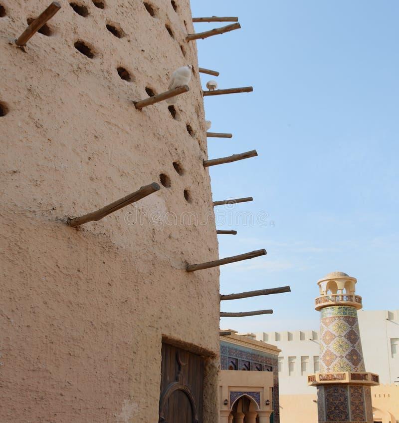Het huis en de minaret van de duif stock fotografie