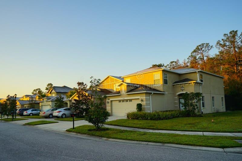 Het huis en de zonlicht van Florida royalty-vrije stock fotografie