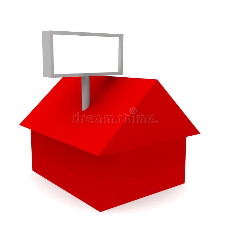 Het huis geeft terug vector illustratie