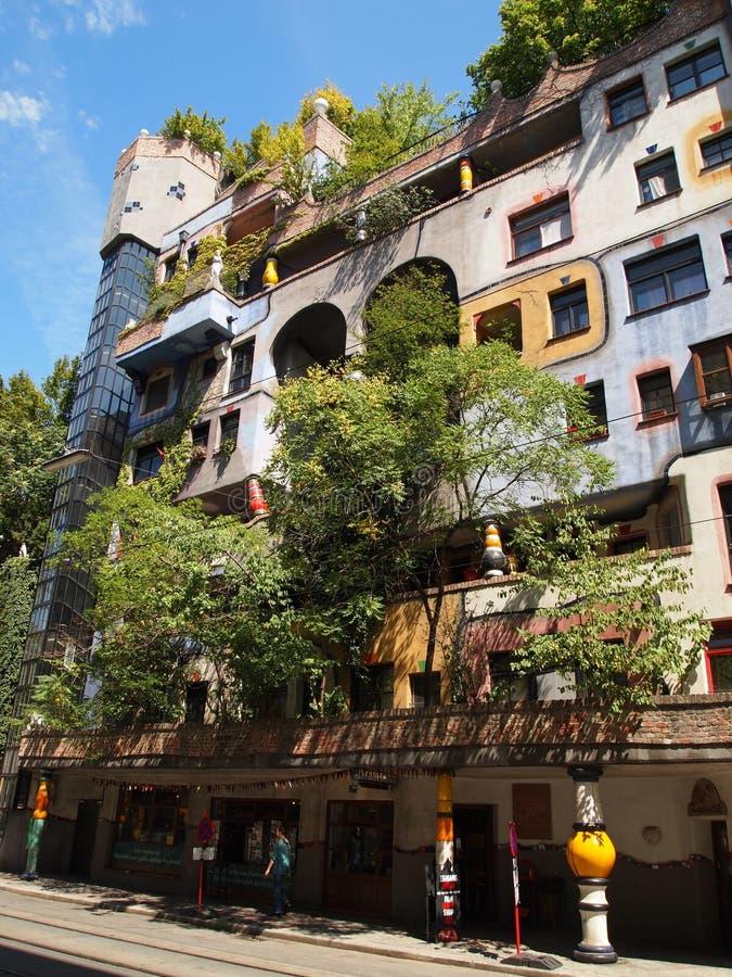 Het huis Hundertwasser stock foto