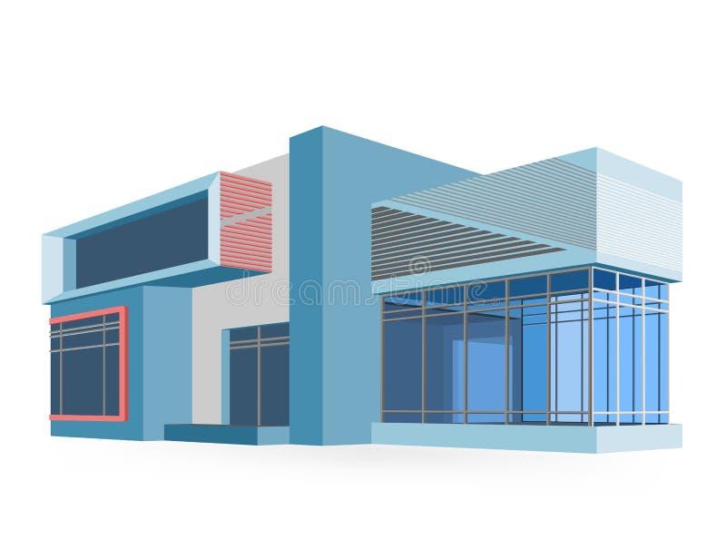 Het huis modelleert vectorontwerp stock illustratie