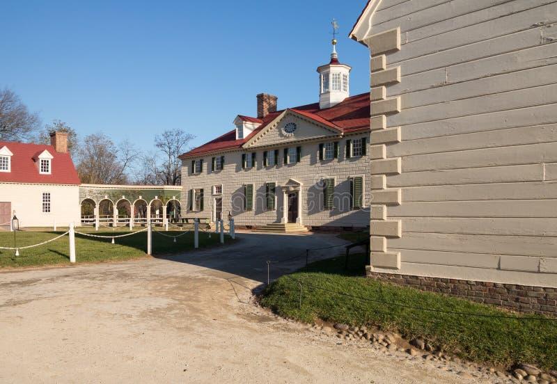 Het huis Mount Vernon van George Washington royalty-vrije stock afbeeldingen