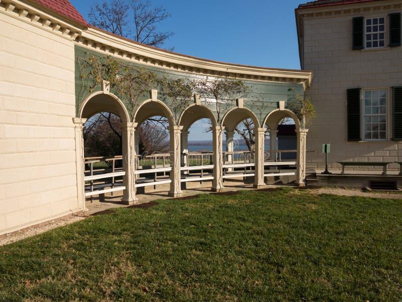 Het huis Mount Vernon van George Washington stock afbeeldingen