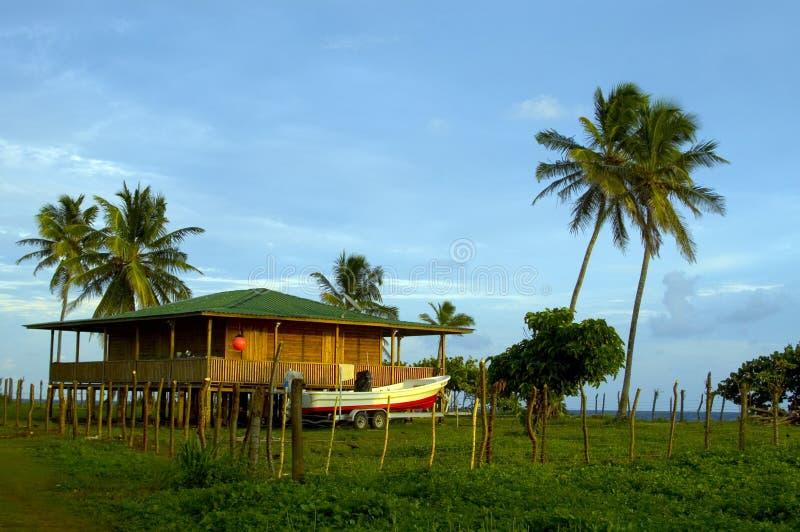 Het huis Nicaragua van het eiland royalty-vrije stock foto