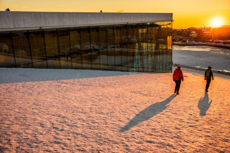 Het Huis Noorwegen van de Opera van Oslo royalty-vrije stock afbeelding