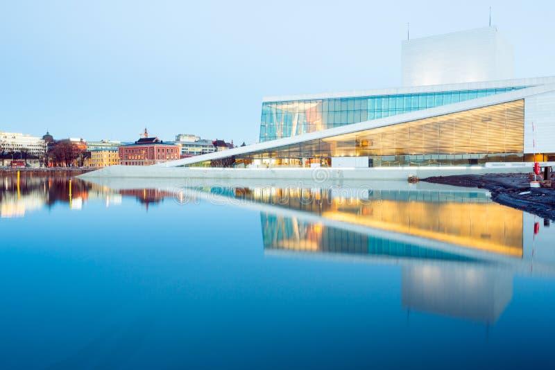 Het Huis Noorwegen van de Opera van Oslo royalty-vrije stock afbeeldingen