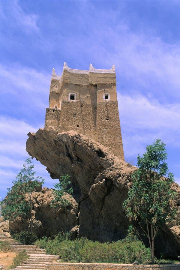 Het huis op de rots royalty-vrije stock foto