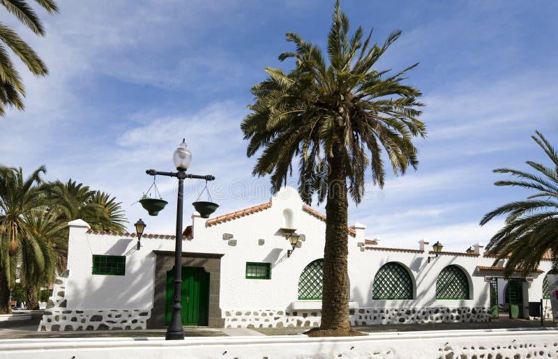 Het huis van Canarische Eilanden stock afbeelding