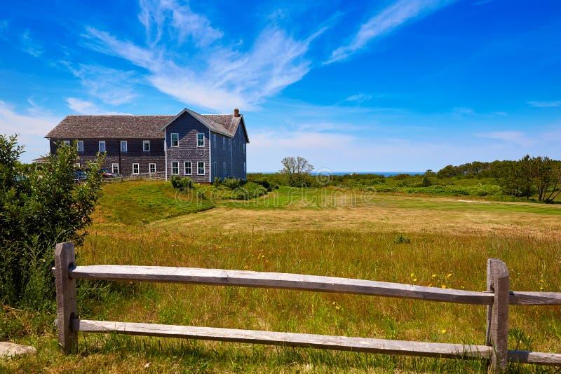 Het huis van Cape Cod Truro in Massachusetts de V.S. royalty-vrije stock foto