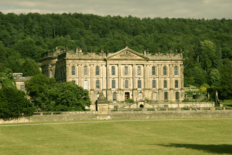 Het Huis van Chatsworth stock foto