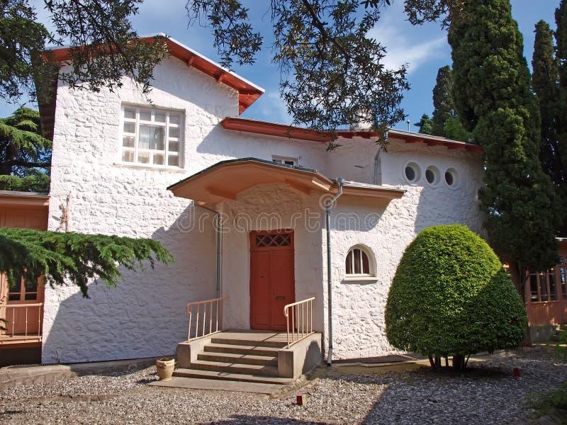 Het huis van Chehov in Yalta, de Oekraïne stock foto
