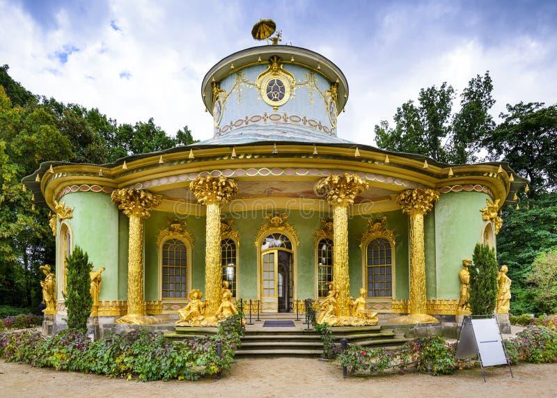 Het Huis van China van Potsdam, Duitsland stock foto's
