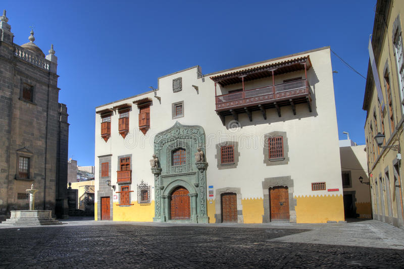 Het huis van Columbus, Las Palmas DE Gran Canaria, Spanje stock foto