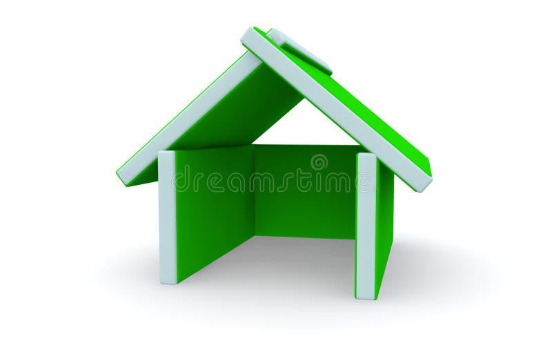 Het huis van conceptenpictogrammen stock illustratie