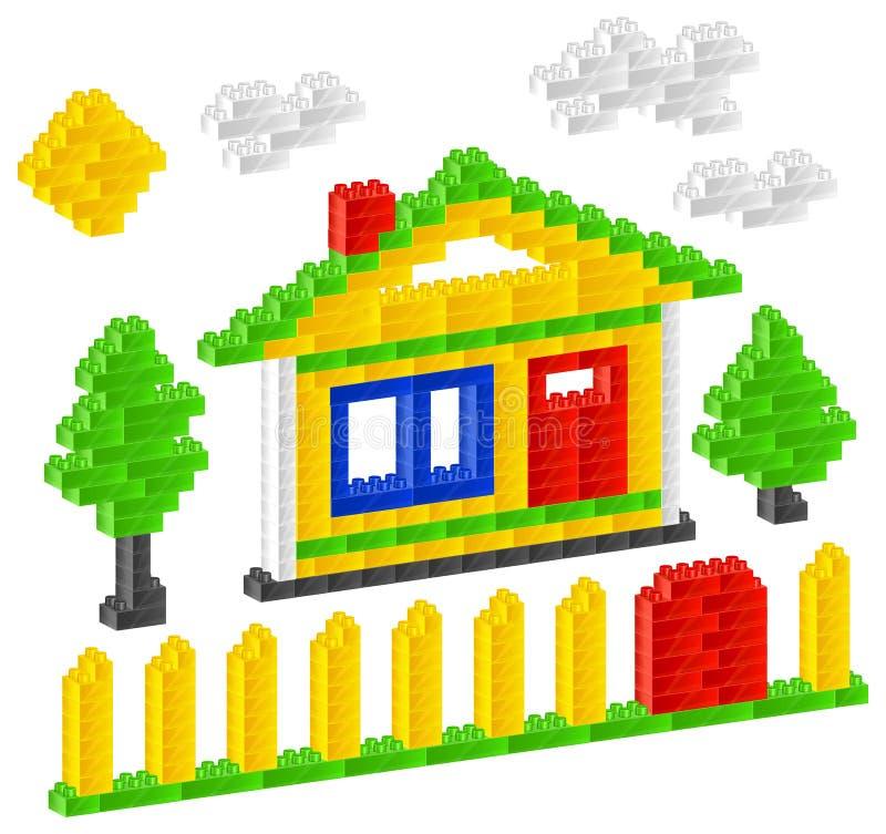 Het huis van de aannemer stock illustratie