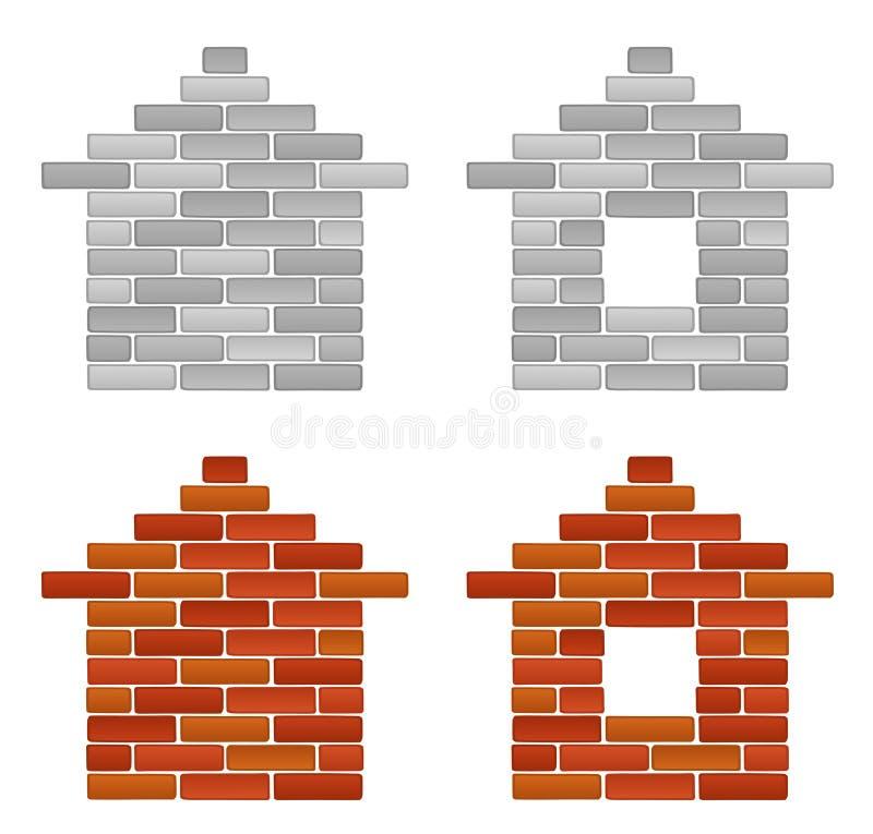 Het huis van de baksteen stock illustratie
