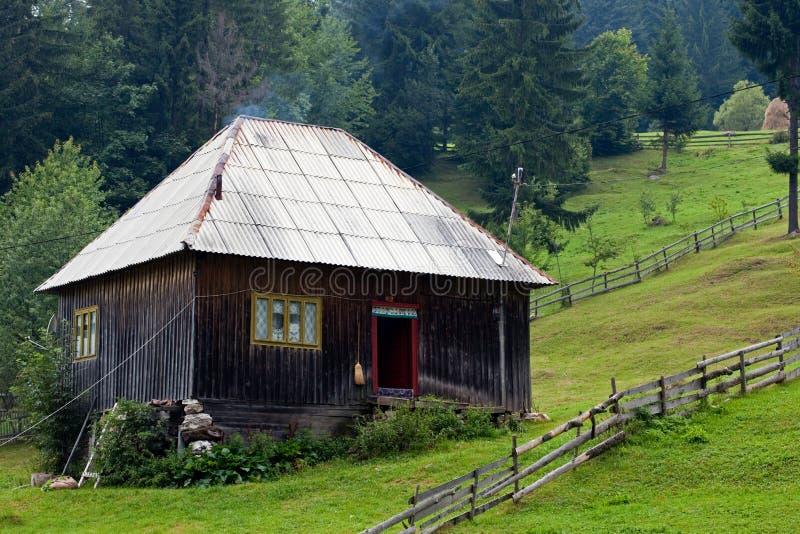 Het huis van de berg stock foto's