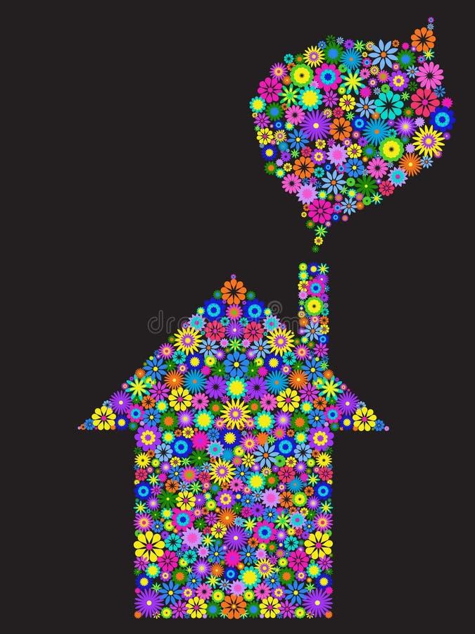 Het huis van de bloem stock illustratie
