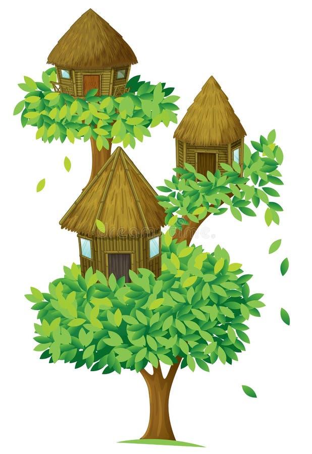 Het huis van de boom royalty-vrije illustratie