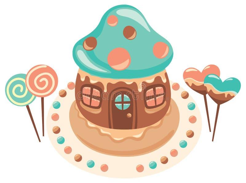 Het huis van de chocolade vector illustratie