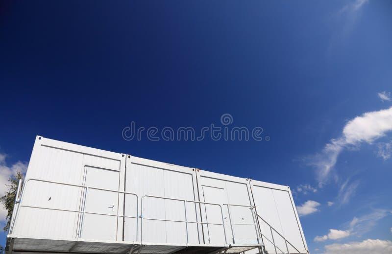 Het huis van de container stock foto