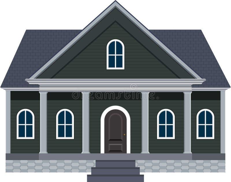 Het Huis van de de Stijldroom van New England met Groot Front Porch Illustration royalty-vrije stock foto