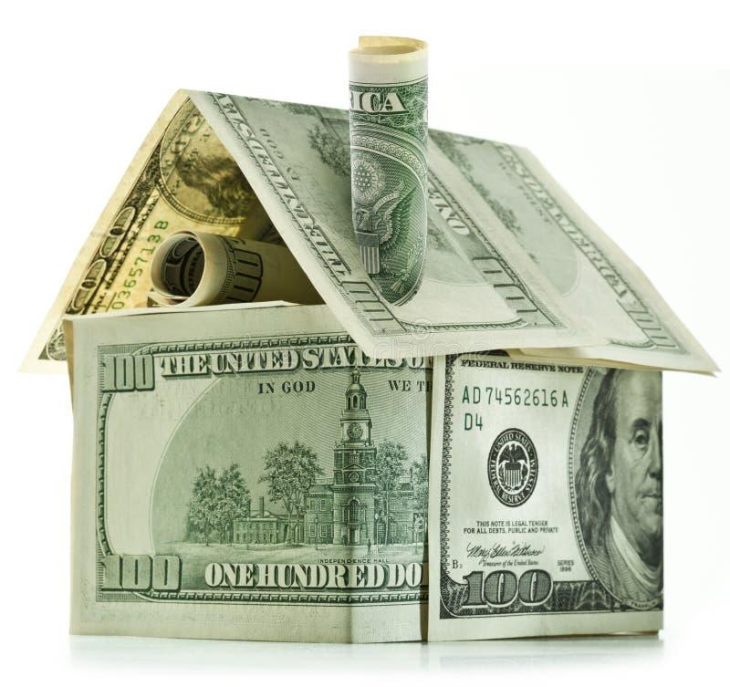 Het huis van de dollar royalty-vrije stock fotografie