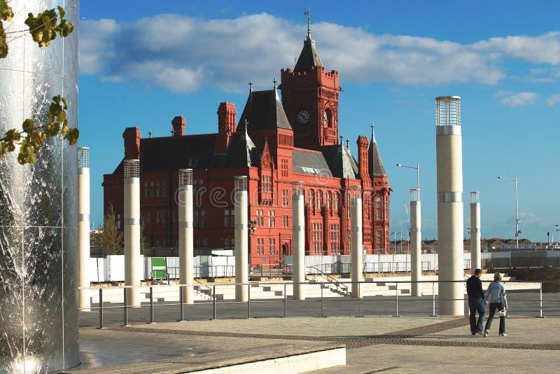 Het Huis van de Douane van de Baai van Cardiff stock afbeelding