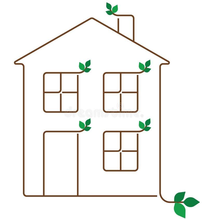 Het huis van de ecologie vector illustratie