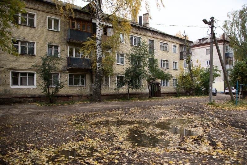 Het huis van de era van de USSR stock afbeelding