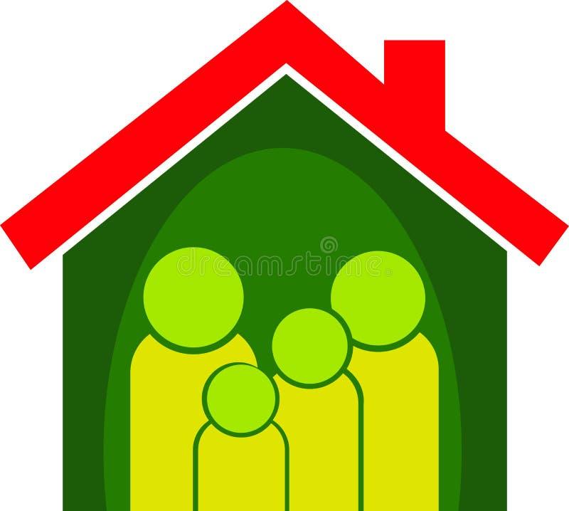 Het huis van de familie royalty-vrije illustratie