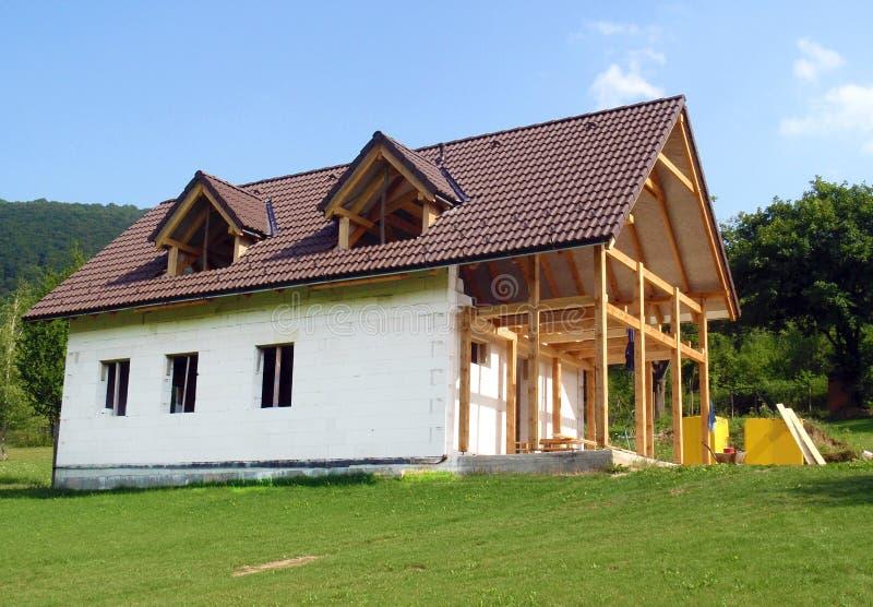Het huis van de familie stock afbeeldingen