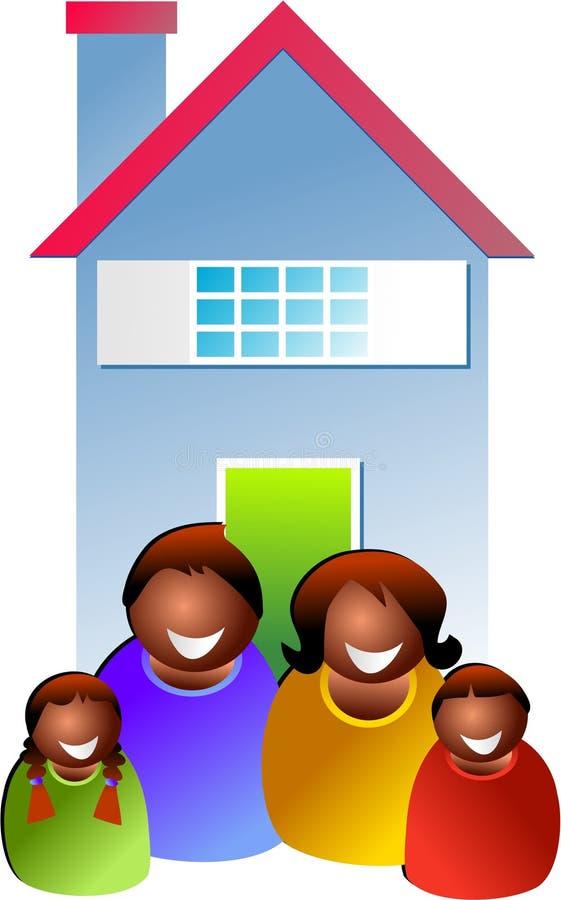 Het huis van de familie stock illustratie