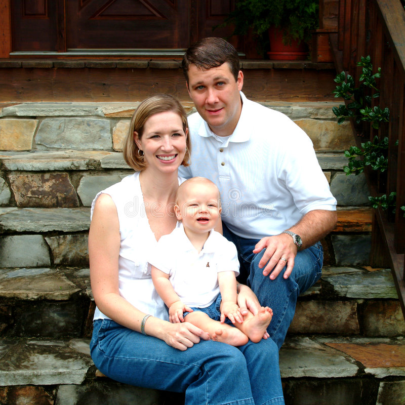 Het Huis van de familie samen stock foto