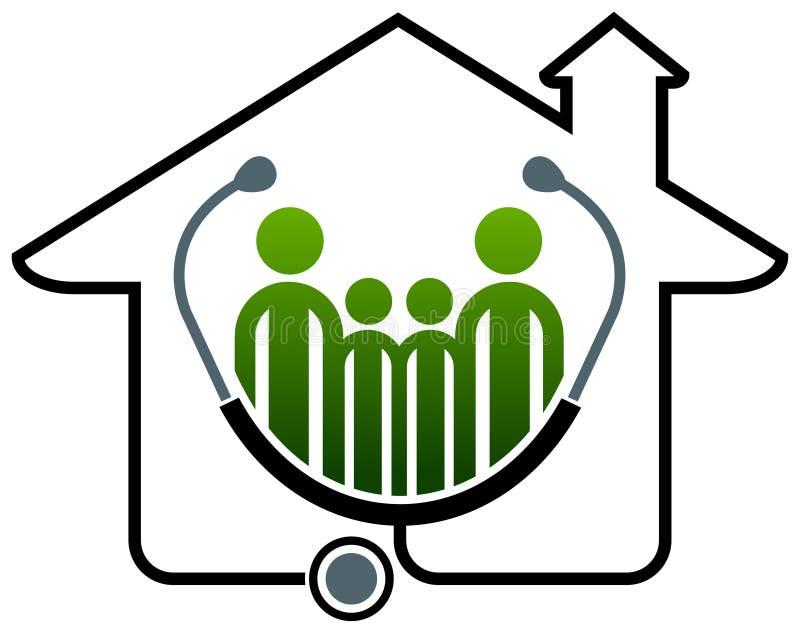 Het huis van de familiegezondheid stock illustratie