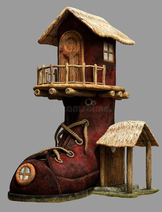 Het huis van de feelaars royalty-vrije illustratie